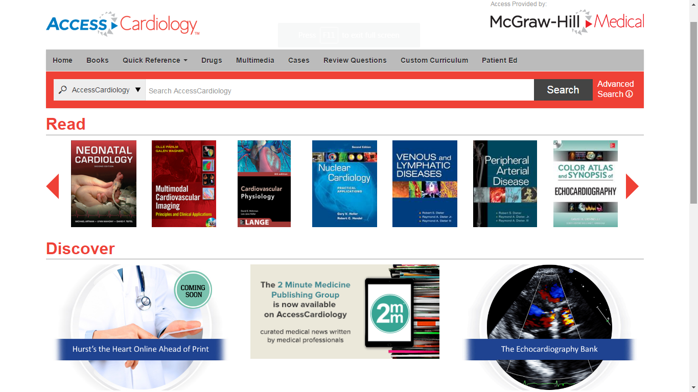 AccessCardiology: New Resource Available in the Fall Offer